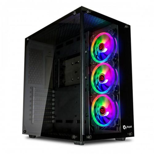 Talius caja Atx gaming Cronos black RGB cristal templado USB 3.0