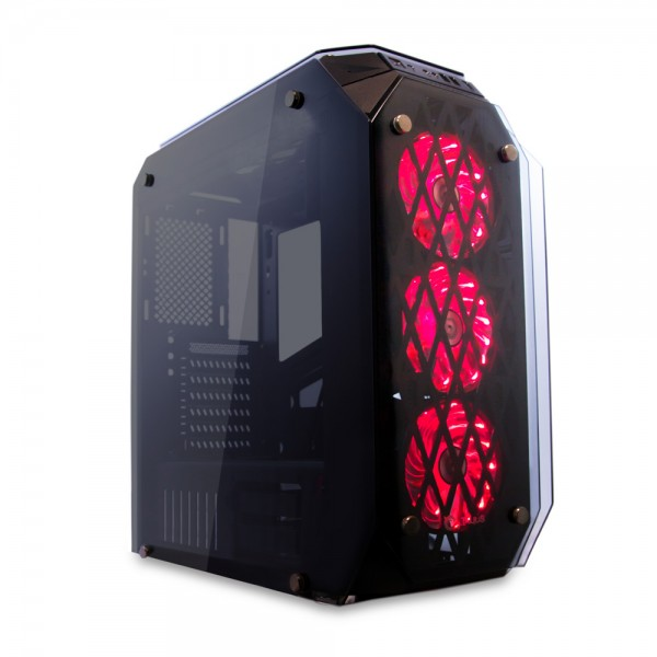 Talius caja Atx gaming Kraken tornado RGB cristal templado USB 3.0