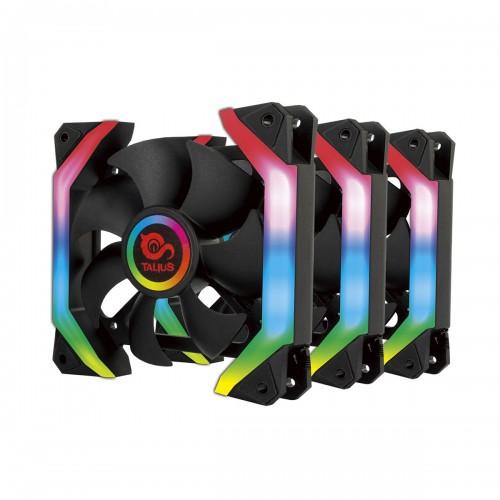 Talius kit 3 ventiladores+centralita con mando Shield spectrum 12cm Retail