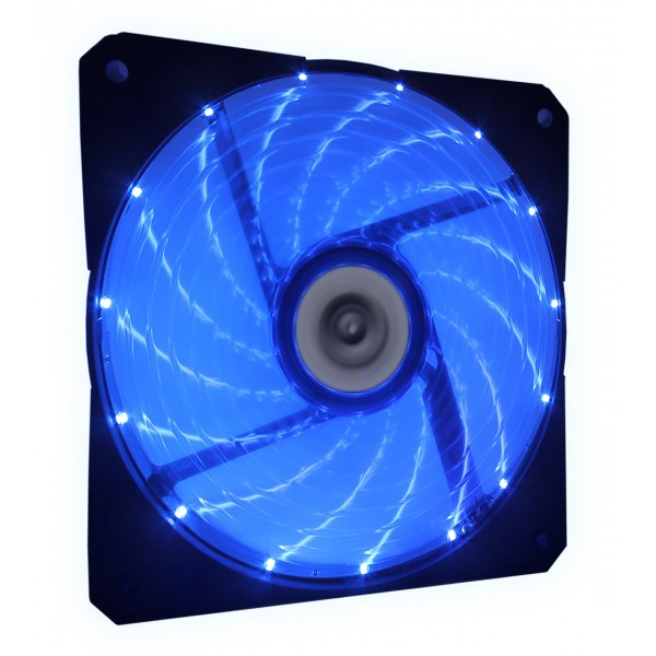 Talius ventilador caja 15 led FAN-03 12cm blue