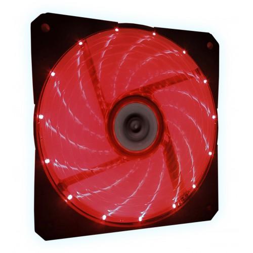 Talius ventilador caja 15 led FAN-03 12cm red