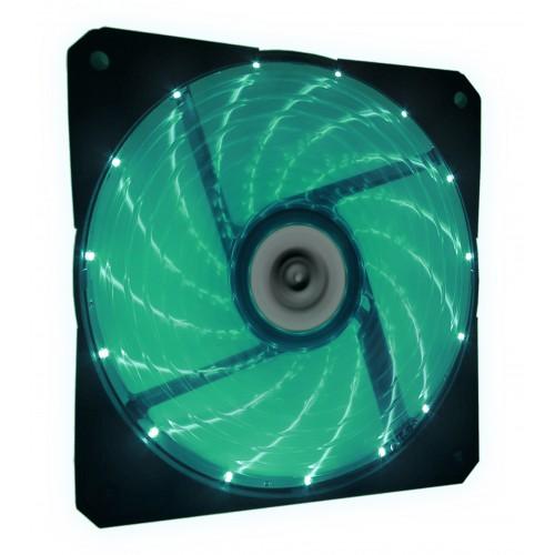 Talius ventilador caja 15 led FAN-03 12cm green