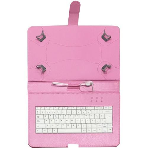 Talius funda con teclado para tablet 10 pulgadas CV-3006 pink