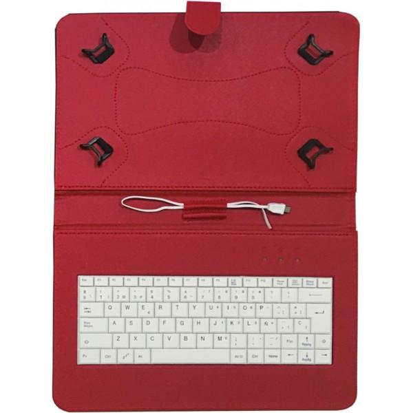 """Talius funda con teclado para tablet 10"""" CV-3006 red"""
