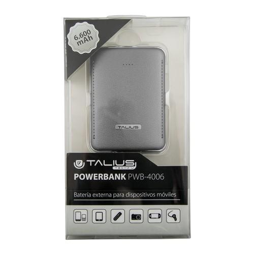 Talius bateria powerbank 6600mAh TAL-PWB4006 grey