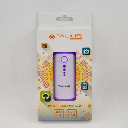 Talius bateria powerbank 4000mAh PWB4008 purple