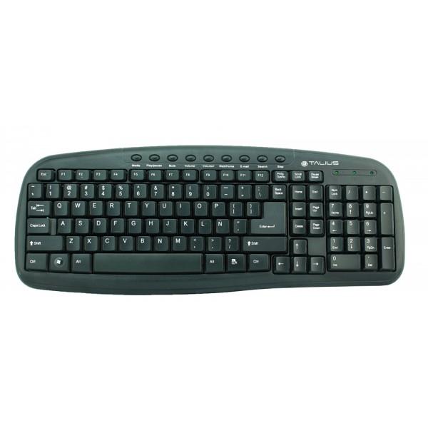 Talius teclado 838 Multimedia black USB