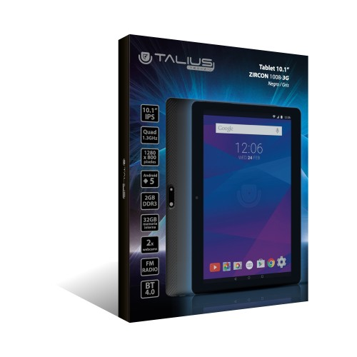 "Talius tablet 10,1"" Zircon 1008-3G Quad Core, Ram 2Gb, 32Gb, IPS, android 5.1 Black"