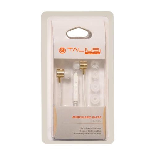 Talius intrauricular EA-1002 blanco / dorado