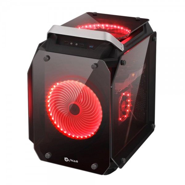 Talius caja cubo Atx gaming Golem cristal templado USB 3.0