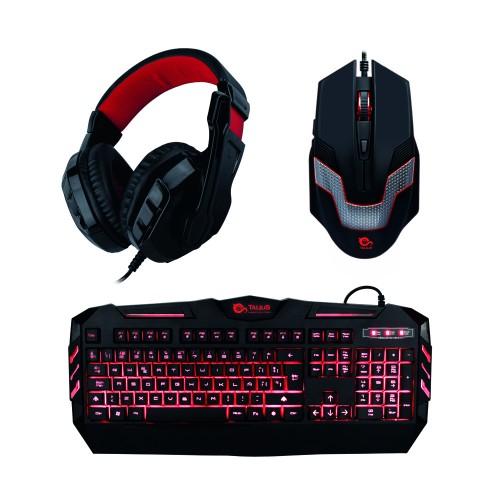 Teclado y ratón gaming Talius Kit (teclado + ratón + auriculares) black