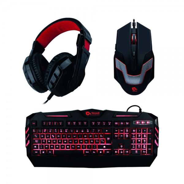 Talius gaming kit (teclado + raton + auriculares) black