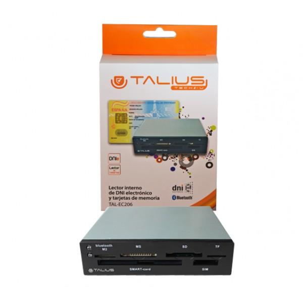 """Talius lector de tarjetas interno 3.5"""" EC-206 DNI electronico + adap. USB bluetooth"""