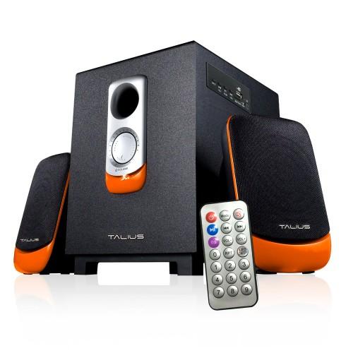 Talius altavoz SPK-2101BT 2.1 USB/SD/FM Bluetooth black/orange