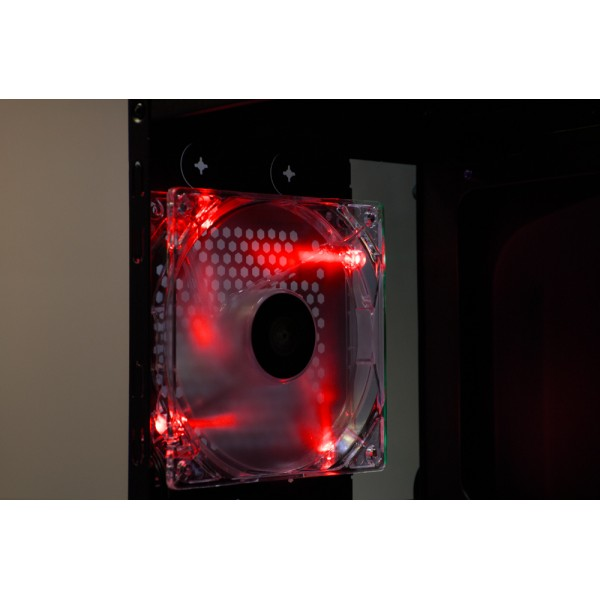 Talius ventilador caja 4 led FAN-01 12cm red