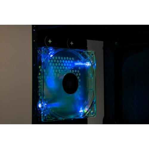 Talius ventilador caja 4 led FAN-01 12cm blue