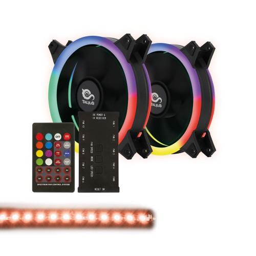 Talius kit Siroko Spectrum (2ventiladores doble aro Spectrum + tira led + remote control) (Próximamente)