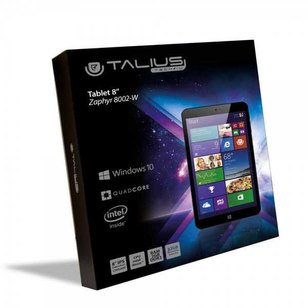 "Talius tablet 8"" Zaphyr 8002w Intel Atom Quad core, Ram 2Gb, 32Gb, windows 10"