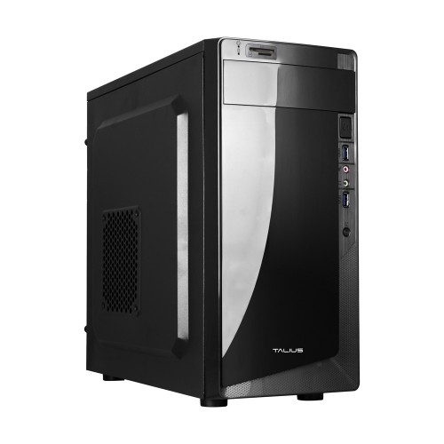 Talius caja micro-Atx Denver 500w USB 3.0 + lector tarjetas black