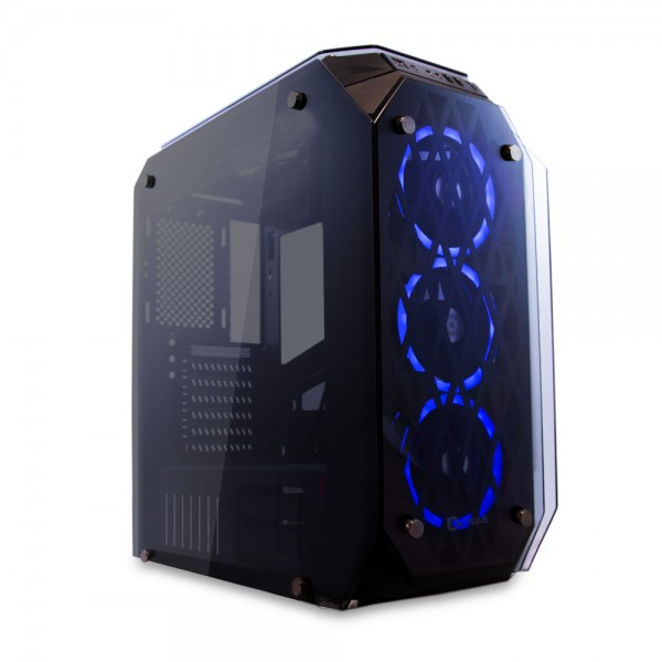 Talius caja Atx gaming Kraken doble ring RGB cristal templado USB 3.0 (Reacondicionado)