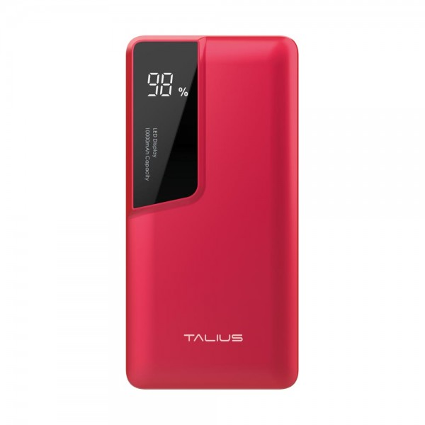 Talius bateria powerbank 10000mAh TAL-PWB4010 red