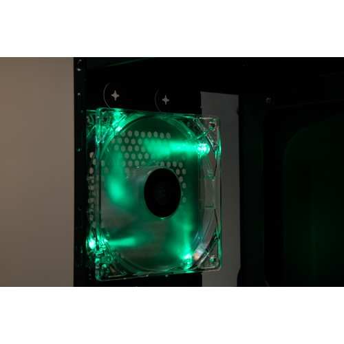 Talius ventilador caja 4 led FAN-01 12cm green
