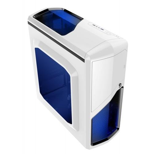 Caja de ordenador Gaming blanca ATX Drakko con USB 3.0