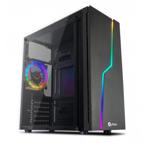 Talius caja Atx gaming Spark RGB cristal templado USB 3.0