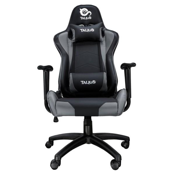 Talius silla Gecko gaming negra/gris, brazos fijos, butterfly, base nylon, ruedas nylon