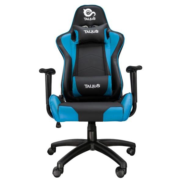 Talius silla Gecko gaming negra/azul, brazos fijos, butterfly, base nylon, ruedas nylon