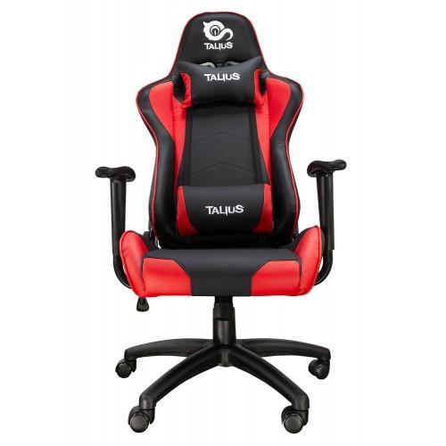 Talius silla Gecko gaming negra/roja, brazos fijos, butterfly, base nylon, ruedas nylon