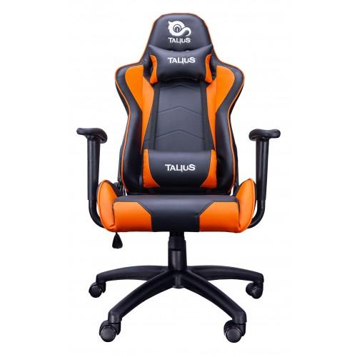 Talius silla Gecko gaming negra/naranja,brazos fijos, butterfly, base nylon, ruedas nylon