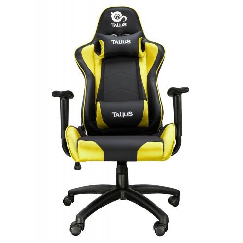 Talius silla Gecko gaming negra/amarilla, brazos fijos, butterfly, base nylon, ruedas nylon, gas cla