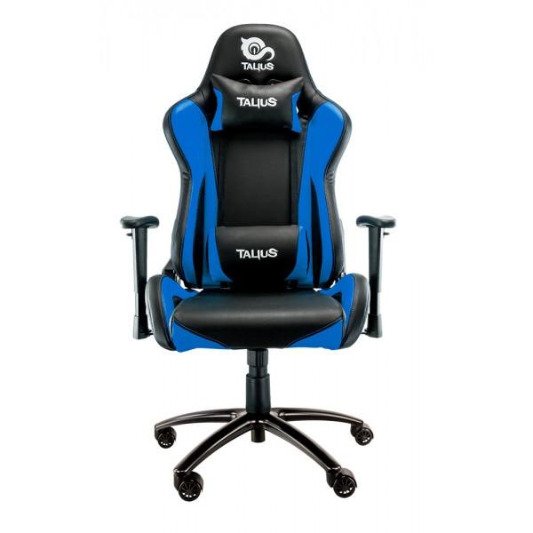Talius silla Lizard gaming negra/azul, 2D, butterfly, base metal, ruedas 60mm, gas clase 4,