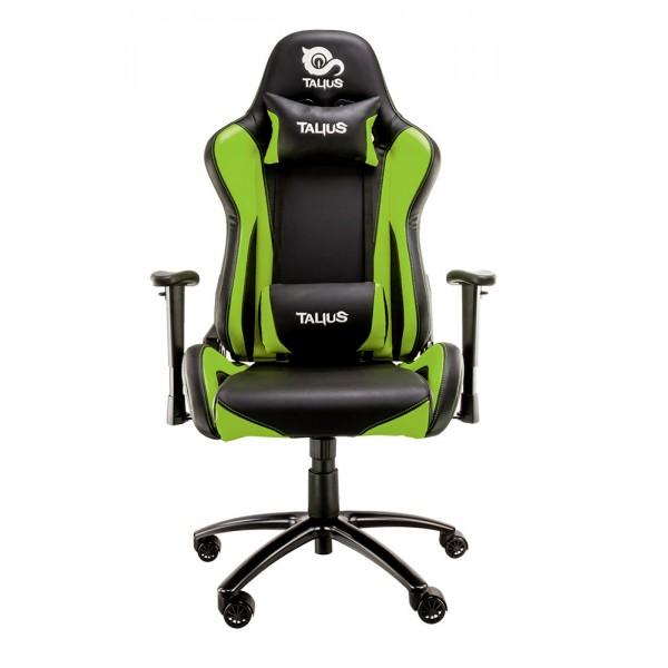 Talius silla Lizard gaming negra/verde, 2D, butterfly, base metal, ruedas 60mm, gas clase 4,