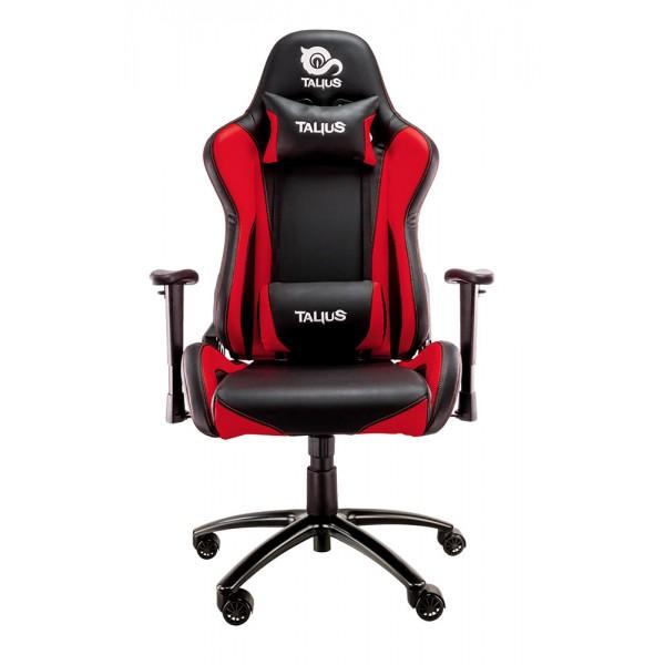 Talius silla Lizard gaming negra/roja, 2D, butterfly, base metal, ruedas 60mm, gas clase 4, 2