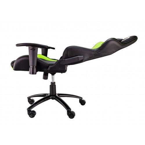 Talius silla Lizard v2 gaming negra/verde, 2D, butterfly, base metal, ruedas 60mm, gas clase 4,