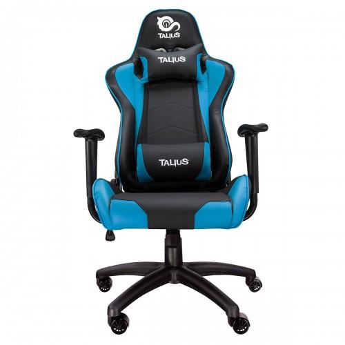 Talius silla Gecko v2 gaming negra/azul, butterfly, base nylon, ruedas nylon