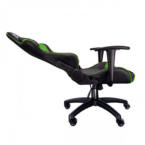 Talius silla Gecko v2 gaming negra/verde, butterfly, base nylon, ruedas nylon