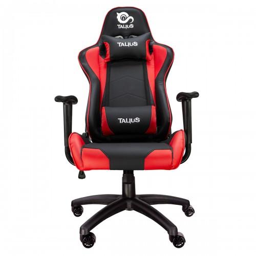 Talius silla Gecko v2 gaming negra/roja, butterfly, base nylon, ruedas nylon