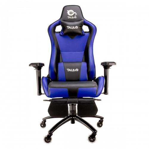 Talius silla Caiman v2 gaming negra/azul, reposapies, 4D, Frog